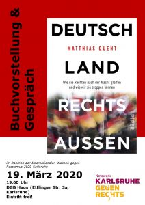 ABGESAGT NgR: Deutschland rechts außen – Lesung und Gespräch mit Matthias Quent @ DGB Haus
